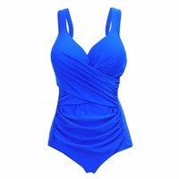 YOUDIAN 2018 New Arrival Large Cup Swimwear Women Plus Size Swimsuit One Piece Solid Bathing Suit