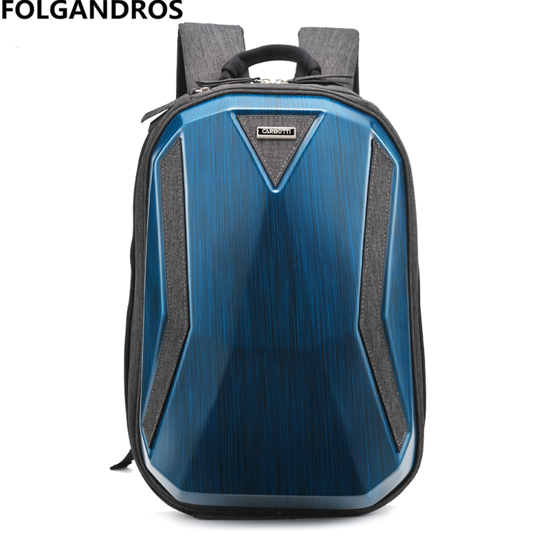 Hard Shell Computer Bag Men Backpacks Brand Fashion High Standard Versatile Daypack Waterproof Classic Motorcycle Backpack