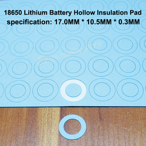 Image 4 - 100 قطعة/الوحدة 18650 بطارية ليثيوم PET البلاستيك الإيجابية جوفاء لوحة العزل شقة الأصلي طوقا البطارية Accessories17 * 10.5*0.3