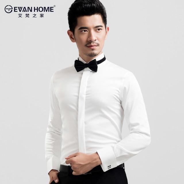 Men 39 s white tuxedo shirt french cufflinks banquet small for Small collar dress shirt