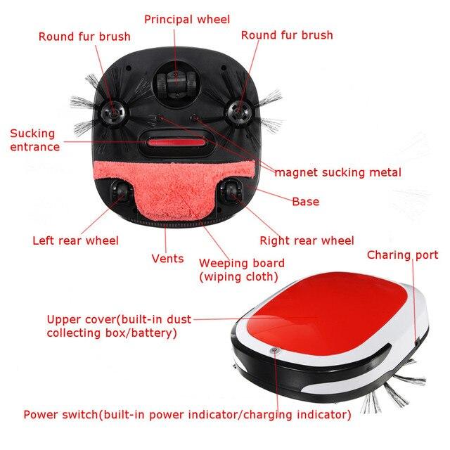 Smart Robotic Vacuum Cleaner Cordless Floor Dust Auto Sweeping Machine Dry Wet Tank Brushless Aspirador for Home 1