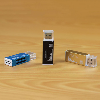 NOYOKERE All in One Card Reader Multifunction for SD SDHC MMC RS MMC TF Micro SD MS Random Color