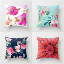 YVEVON Colorful Flower Cushion Cover Sunflower Rose Dandelion Decorative Pillows Case Decoration Couch Seating Pad 45cm 18inch