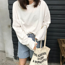 6 Solid Color Long Sleeve T Shirt Women Harajuku Basic White Loose Autumn Tshirt for Ladies Black Korean Style Tee Shirt Femme недорого
