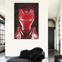 Avengers Endgame Iron Man Red Art Canvas Painting Prints Bedroom Home Decoration Modern Wall Posters Pictures HD