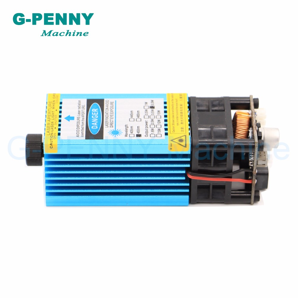Livraison gratuite! Machine de gravure Laser 5.5N.m modèle 5500 mw 445nm lumière bleue PWM 12 vttl pmw gravure acier découpe bois planche. - 6