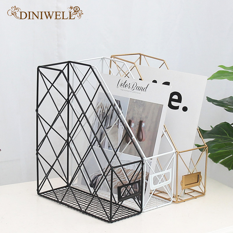 Diniwell Nordic Wrought Iron Storage Rack Desktop File Book Storage Box Organizer Office Desk Study Bedroom Creative Shelf Rack Buy At The Price Of 13 45 In Aliexpress Com Imall Com
