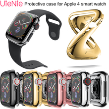 40mm/44mm width Soft silicone case For Apple watch 4 smart dial protection accessories Protective film