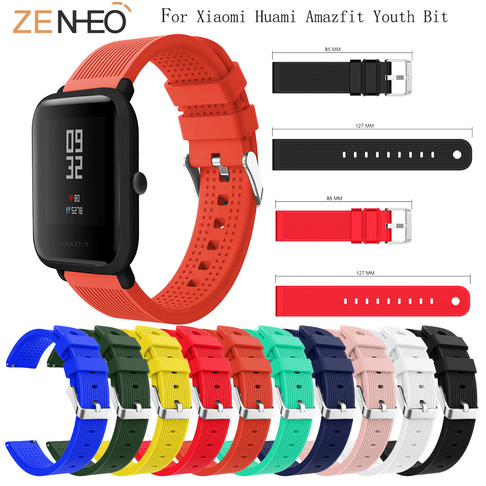Soft Silicone For Huami Amazfit Bip Youth Watchband Replace For Xiaomi Huami Bip BIT PACE Lite Youth Band Bracelet Strap 20mm