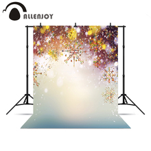 Allenjoy photographic camera Snowflakes colorful golden glitter pastel backdrops background for photo shoots for a photo shoot