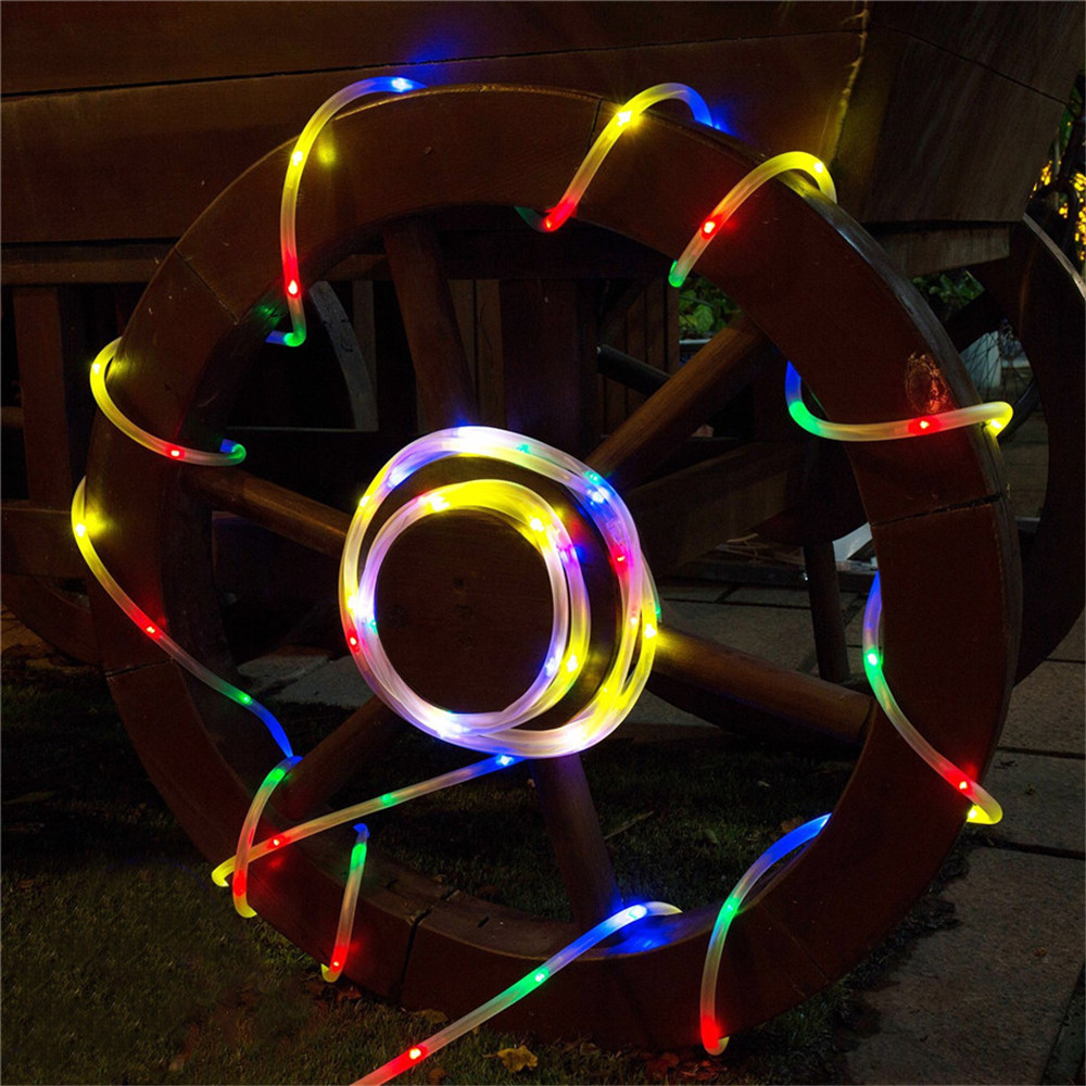 10M 100Leds Christmas String Light Waterproof 8 Modes Soft Tube AA Battery Powered Remote Controller Outdoor Fairy Decoration