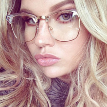COOLSIR 2019 New Clear Glasses Women Classic Optics Eyeglasses Men Spectacle Frame Transparent Lens Optical Aviation Glass TOM