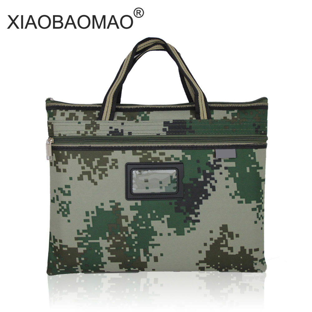 Camouflage Portable A4 document bag student waterproof zipper bags canvas bag multi-file office kits filing productsCamouflage Portable A4 document bag student waterproof zipper bags canvas bag multi-file office kits filing products