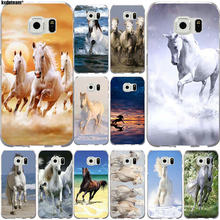 Wild Horses Running At Sunset Soft TPU Silicon Mobile Phone Case for Samsung Galaxy S2 S3 S4 S5 Mini S6 S7 S8 S9 Edge Plus Bags(China)