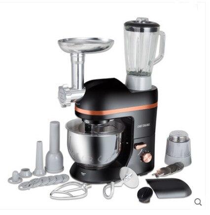 220 V Multifunções 5L Batedeira Elétrica Batedor de Ovos Batedeira de Cozinha Liquidificador Elétrico Com Espremedor Moedor De Salsicha