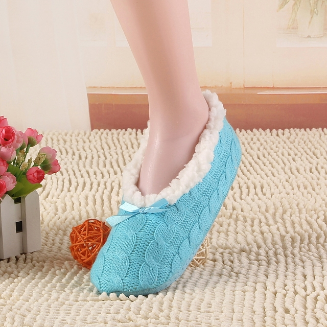 2017 New Warm Soft Sole Women Indoor Floor Slippers/Shoes White Black Wool Slippers Flannel Flat Home Slippers Color Plus Size30