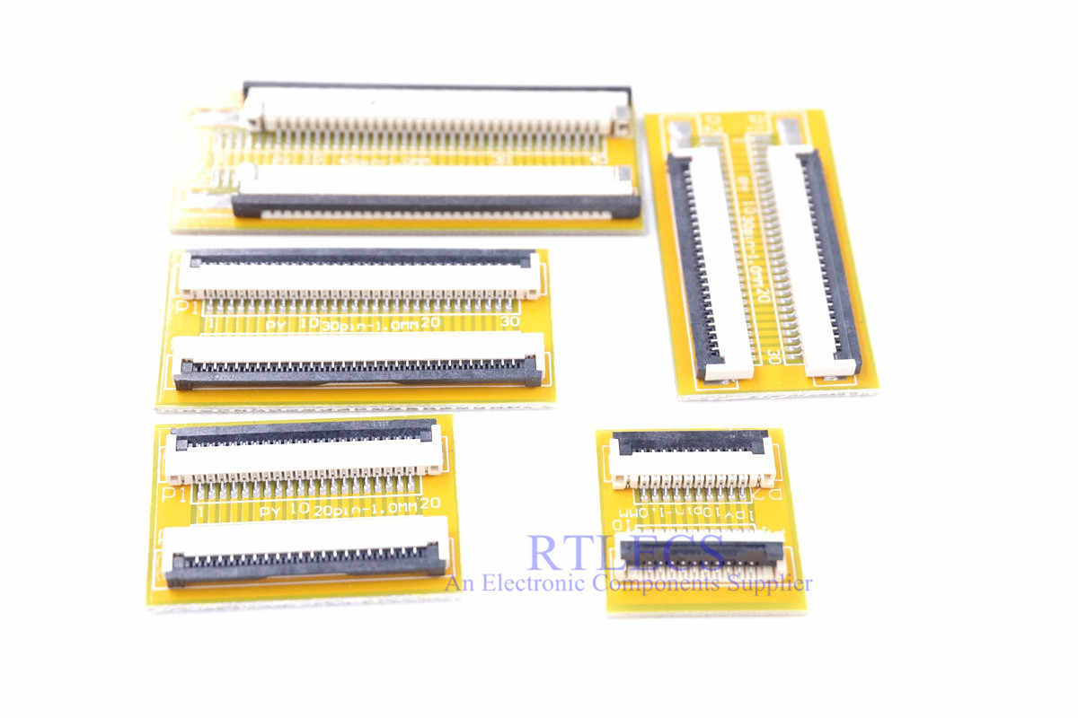 1 stuk Platte Flexibele Kabel FFC FPC Jumper Extension PCB Pitch 1.0mm 4 5 6 8 9 10 15 16 20 24 30 32 34 40 Pin FPC Connector ZIF