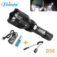 Brinyte B58 Night Hunting Flash Light White Red Green 1 Mode CREE XM L2 U4 LED