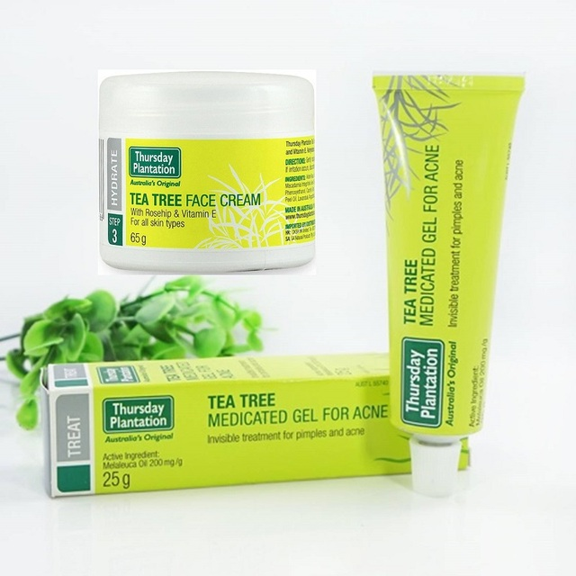 Australia100% Tea Tree Oil Face Cream+Medicated Gel For Acne powerful acne  remover Remove
