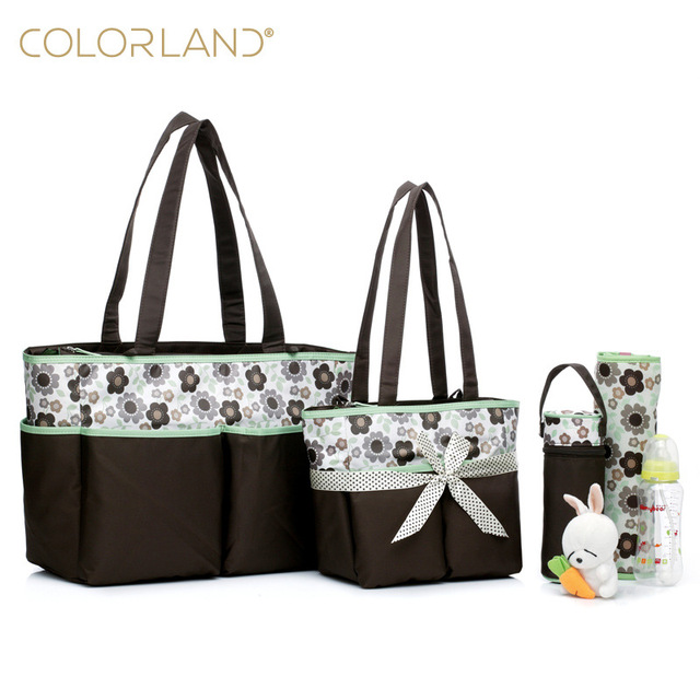 5 Pieces Set Fashion Mother Bag Diaper Bags For Mom Baby Large Capacity Nappy Bags Organizer Stroller for Maternity FREE SHIPPIN