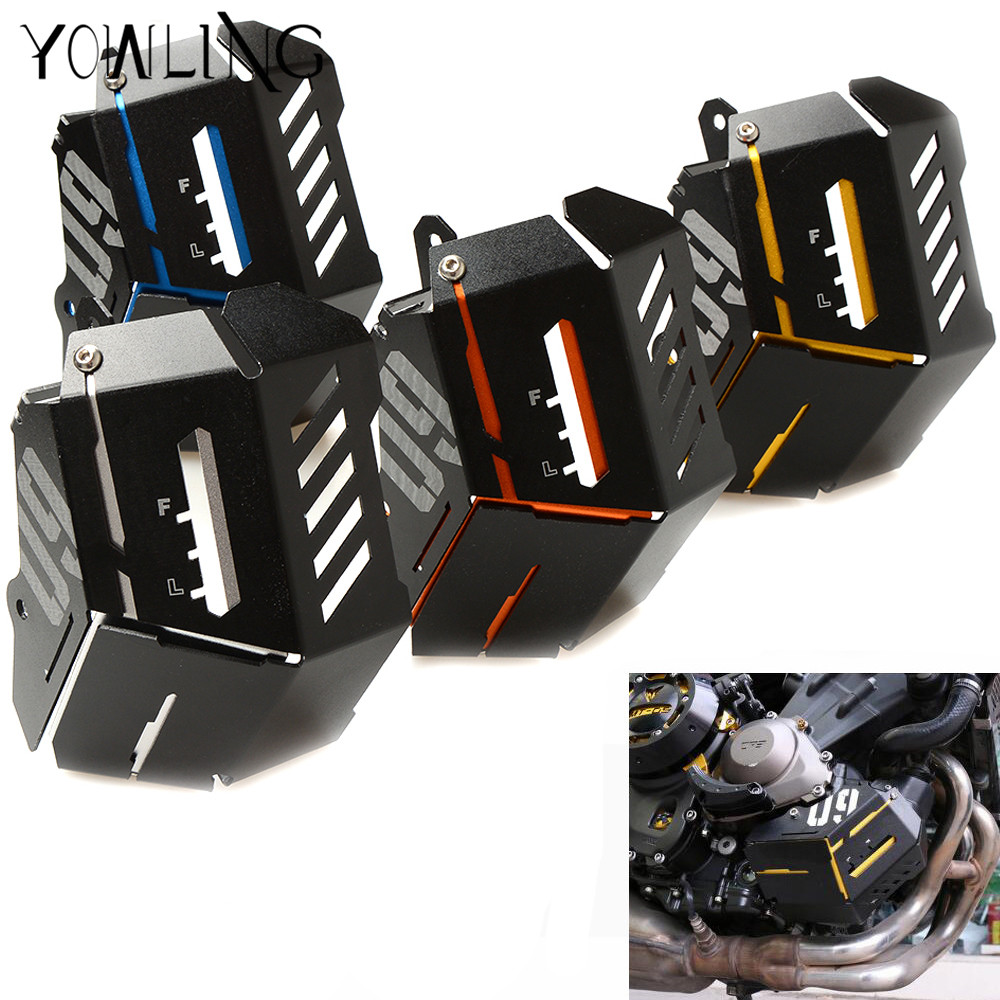 For Yamaha Mt09 Tracer Mt-09 FZ09 FZ-09 MT 09 2014 2015 2016 radiator protective cover Guards Radiator Grille Cover Protecter 7 color aluminum engine stator case cover protective side protector for mt09 fz09 mt 09 fz 09 fz mt 09 2014 2015 2016 14 15 16