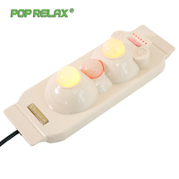 Pop Relax Health Products Electric Prostate Massage For Men Handhend Infrared Heating Therapy Device 3 Balls Jade Stone Massager