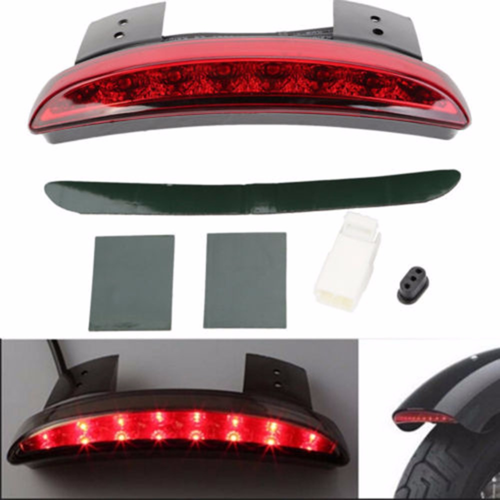 Motorcycle Mudguard LED Tail Light Fender Taillight Waterproof Super Bright Red Light Tail Rear Back Lamp Car Accessories