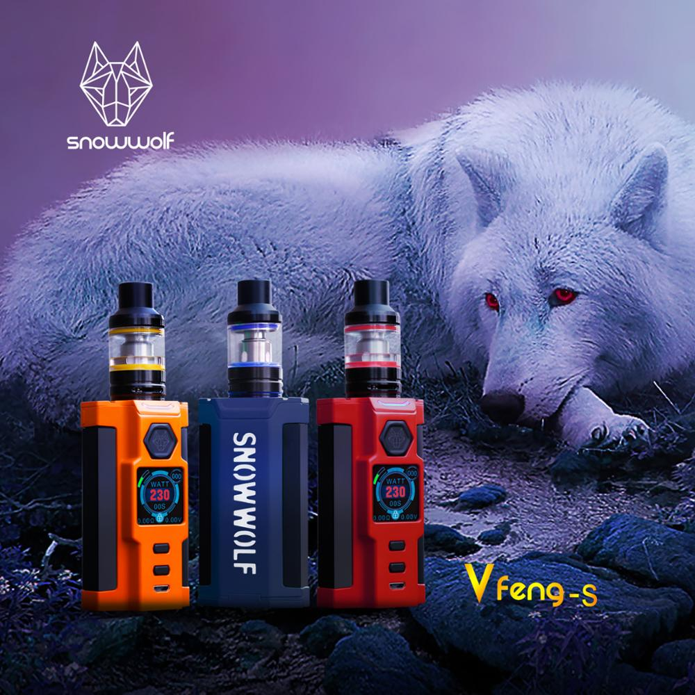 2pcs/lot Snowwolf Vfeng-S electronic cigarette Kit 230W Vfeng S box mod Vape with 2.8ML T3 Atomizer E Cigarettes Vaporizer Tank smoant battlestar 200w tc mod electronic cigarette mods vaporizer e cigarette vape mech box mod for 510 thread atomizer x2093