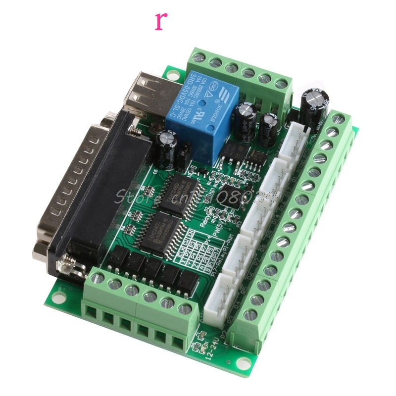 Подробнее о 5 Axis CNC Breakout Board With Optical Coupler For MACH3 Stepper Motor Driver Controller Best Motor Controller #S018Y# 1pcs mach3 engraving machine 5 axis cnc breakout board with optical coupler for stepper motor driver interface board usb cable