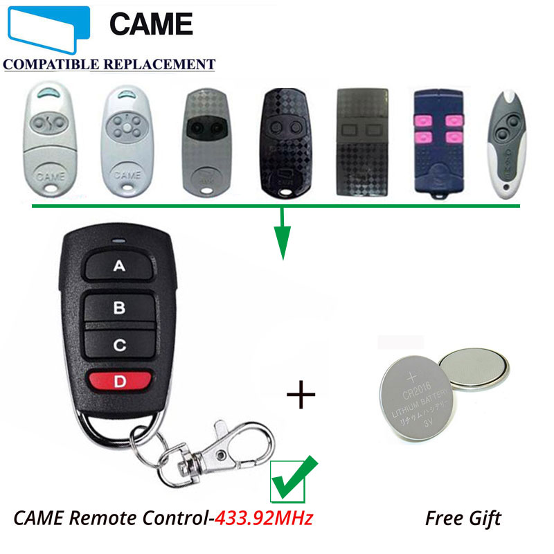 Top Quality Rainproof CAME TOP TWIN4 ,TOP434M,434NA 4 Button Garage Door Remote Copy/Duplicator цена