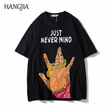Hip-hop Gesture Printed Tshirts Men Streetwear Mens Women T-shirt Short Sleeve Cotton Tee Summer Harajuku Casual Tshirt and Tops цена