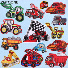 ZOTOONE Cool Various Cartoon Car Patches for Kids Iron on Applique Embroidery Clothing Punk Custom Badges Boy E