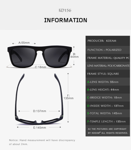 Kdeam Men's Polarized Sunglasses 6