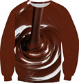 2016 New Men/Women Snacks Chocolate Food Milk Funny Pullovers 3D Hoodies Sweatshirt Man Long Sleeve Fleece Inside Crewneck Tops