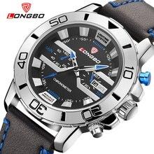 2016New sport moda casual marca militar reloj de cuarzo resistente al agua correa de cuero relojes grandes para hombre del dial de lujo relogio masculino