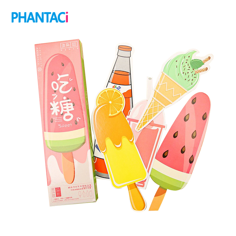 30 Pcs/box Creative Dessert & Drink Bookmarks Thick Paper Page Markers Stationery Bookmark Book Holder Message Card Tab For Book