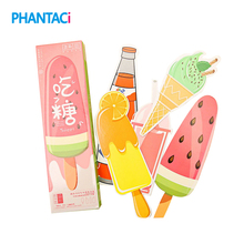 30 pcs/box Creative Dessert & Drink Bookmarks Thick Paper Page Markers Stationery Bookmark