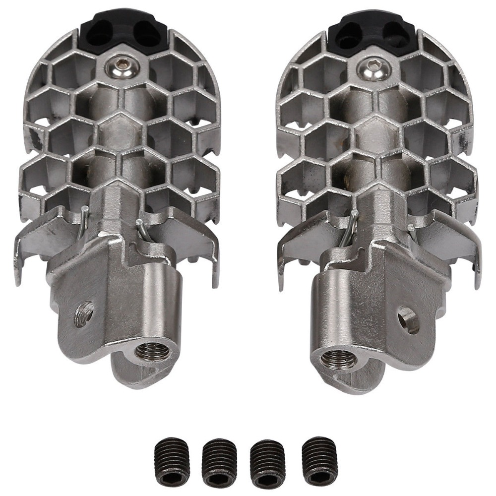 Pair Left Right Side Stainless Steel Rider Foot Pegs For BMW F800GS 2008-2016 15 14
