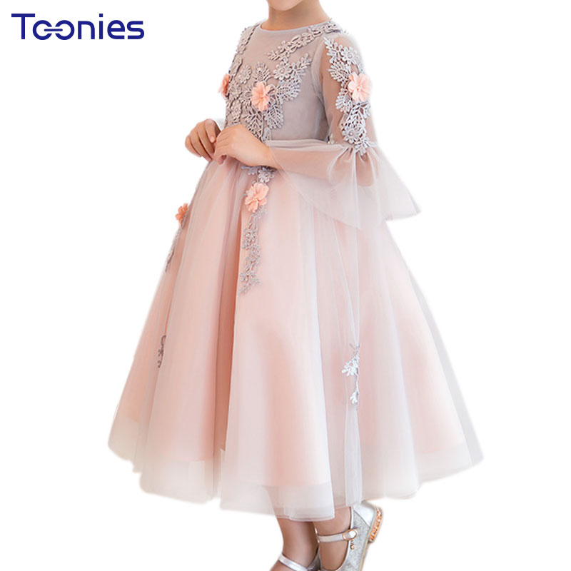 New Design Flower Girl Dress Birthday Party Evenign Formal Ball Gown Princess Costume Wedding Birthday Girls Dresses Vestidos free shipping new red hot chinese style costume baby kid child girl cheongsam dress qipao ball gown princess girl veil dress