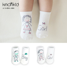 Nuevo bebé primavera calcetines lindo niño niña niños de algodón inferior antideslizante pequeños calcetines calcetines recién nacidos