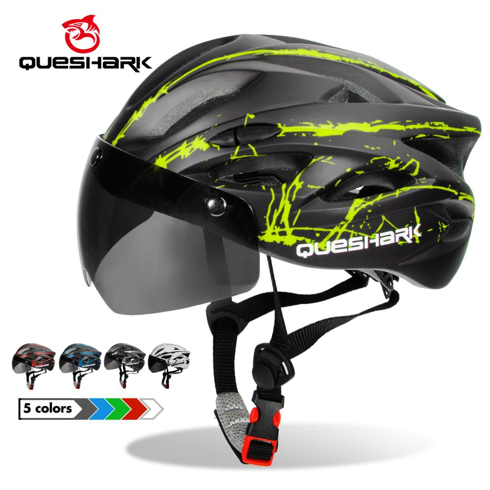 Queshark Goggles Bike-Helmet Mountain-Road-Bike Riding Ultralight-Pattern Integrally