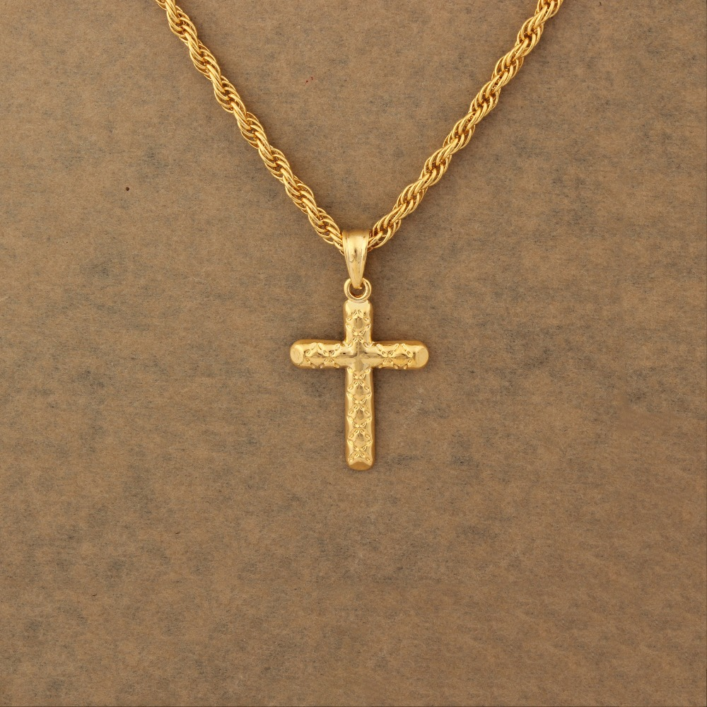 Gold cross necklace women men gold color pendant necklace inri gold cross necklace women men gold color pendant necklace inri crucifix jewelry for women men crucifix jesus cross jewelry in pendants from jewelry aloadofball