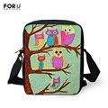 Small Women Ladies Messenger Bag Fashion Handbags Animal Owl Printed Girls Messenger Bags Crossbody Bag for Women Satchel Bag
