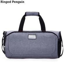 Звонкие люди пингвинов Новая сумка для путешествий Женская рука для багажа Путешествия Сумки для туфлей Сумки из нейлонового уик-энда Многофункциональные сумки для путешествий
