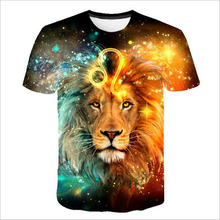 Lion 3D Animal tshirts Men t shirt Casual t-shirt Funny Tee Summer Top Short Sleeve Camiseta Streatwear 2018 DropShip