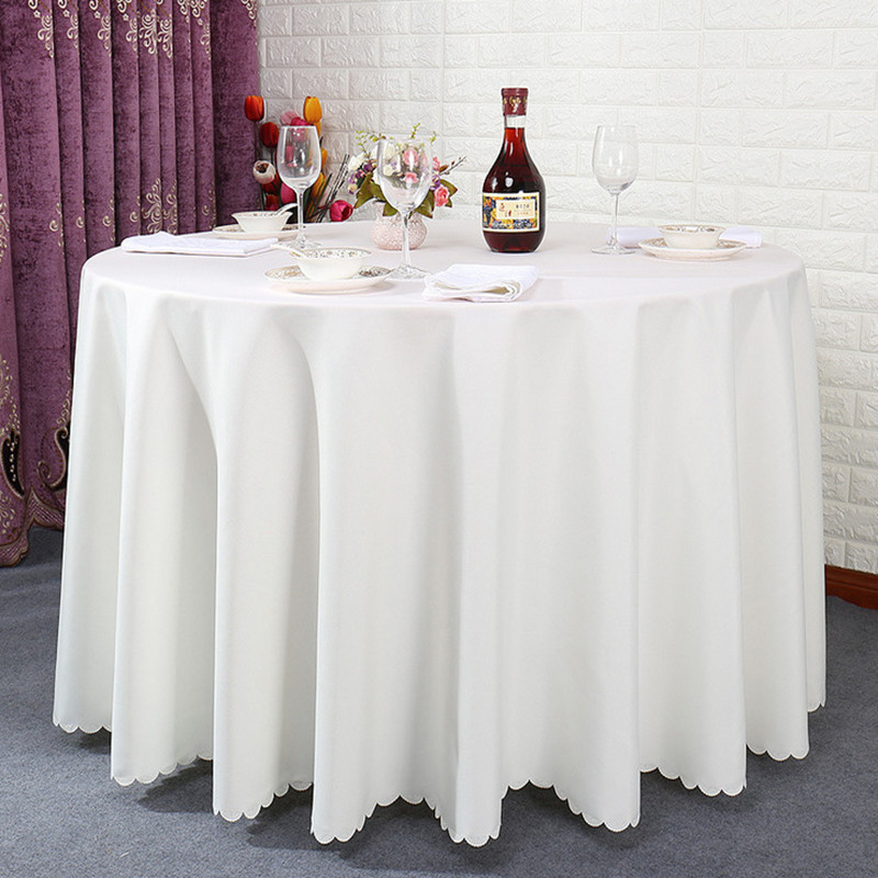 White repeat table cloths party round tablecloth wedding free shipping