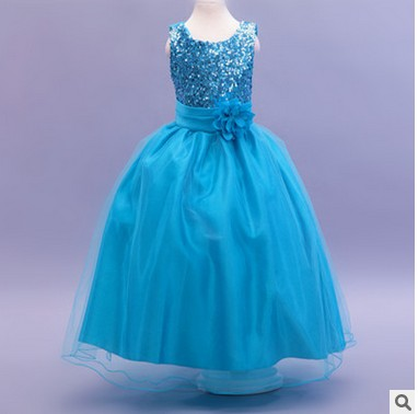 f22a5b096a29 Age 4-16Y Girls long dress floor length Red pink white black blue purple  Ivory gold green gray size 10 11 12 13 14 15 16 years