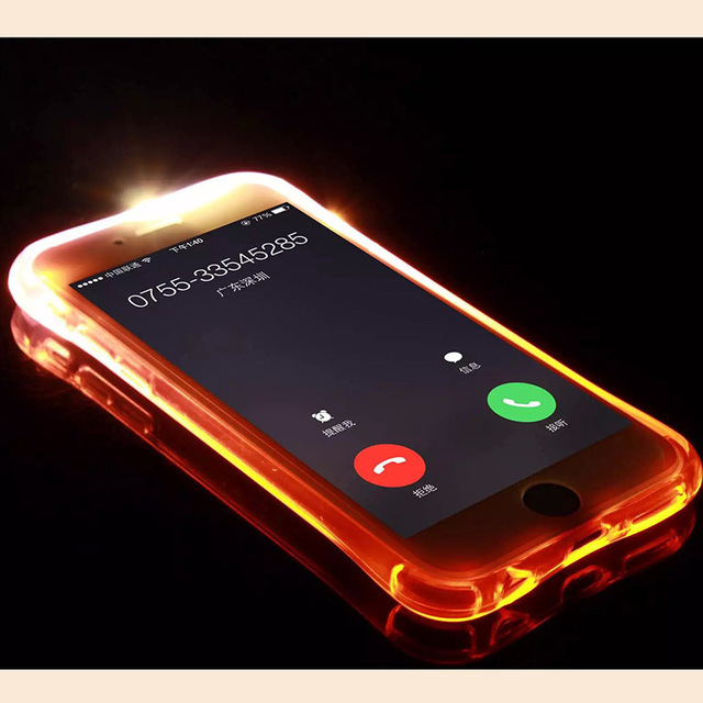 For iPhone6 6S Case LED Flash Light UP Remind incoming Call Cover For iPhone  6s 6 Phone Cases Night Coque Popular Fundas Housing 24d692afd3