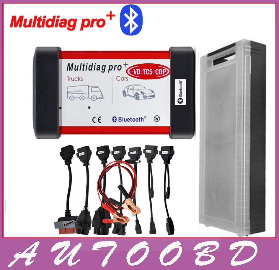 2014.R2 Multidiag Pro+same as VD TCS CDP PRO+For Cars/Trucks OBD2 Multidiag Pro with Bluetooth+8pcs car cables DHL Free Shipping multi language professional diagnostic scanner same function as tcs cdp plus scanner multidiag pro tf card bluetooth v2015 3