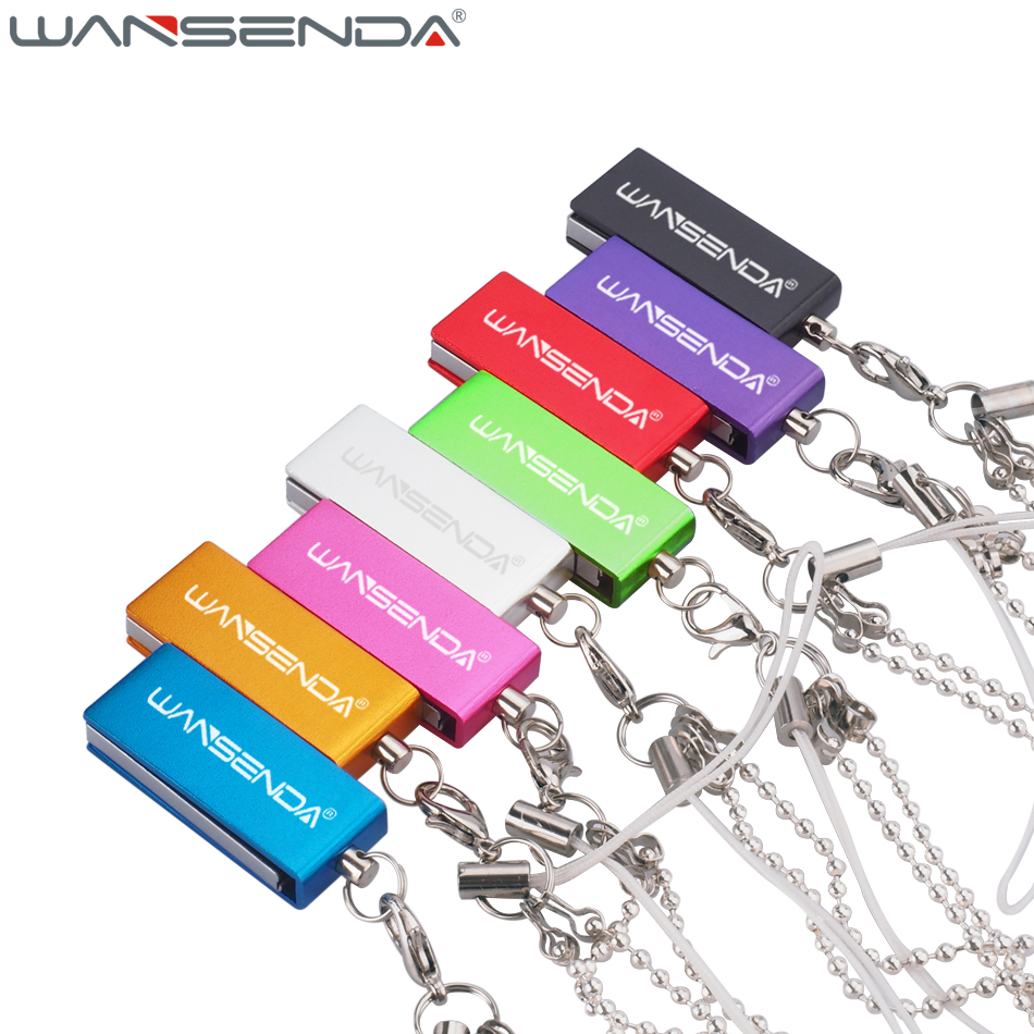 Wansenda Stainless Waterproof Tiny Usb Flash Drive 4GB 8GB 16GB 32GB 64GB Colorful Fashion Pen Drive Memory Stick Pendrive